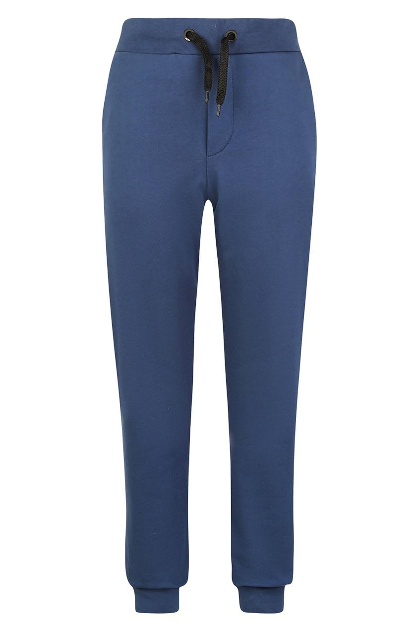 Купить Синие брюки с логотипом от Fendi Kids синего цвета