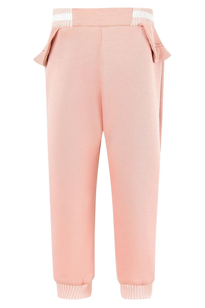 Купить Розовые брюки с оборкой от Fendi Kids розового цвета
