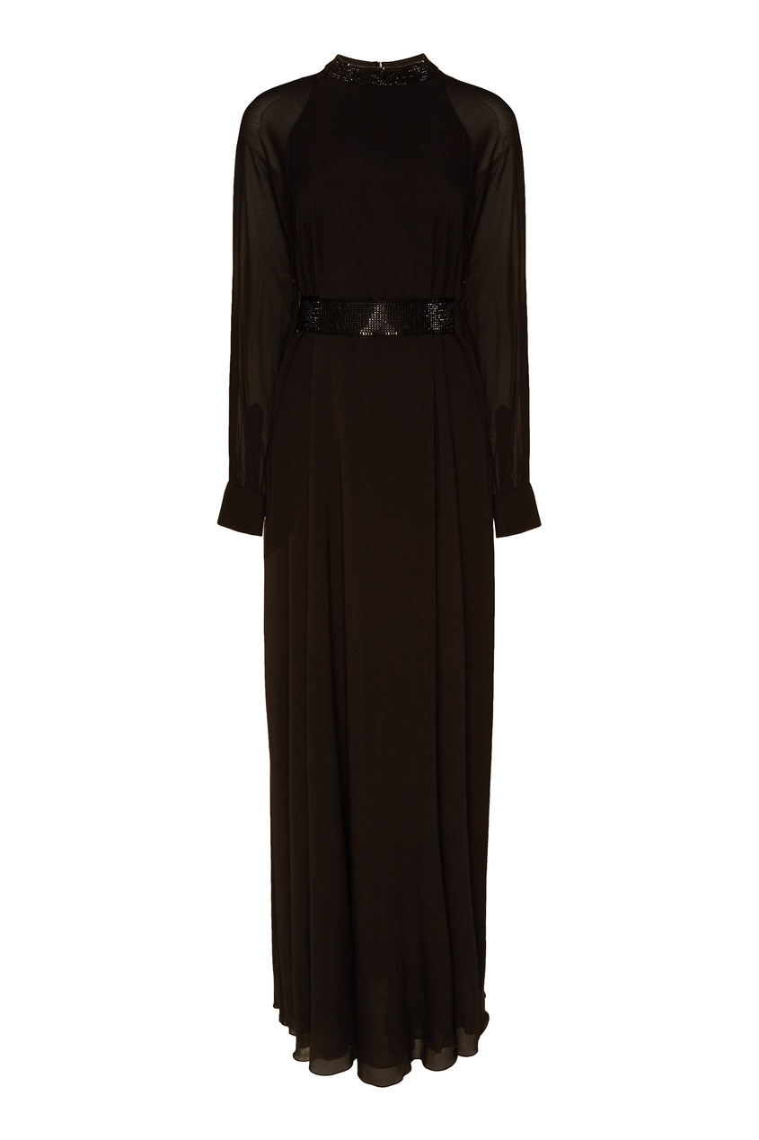 Длинное черное платье Alexander Terekhov