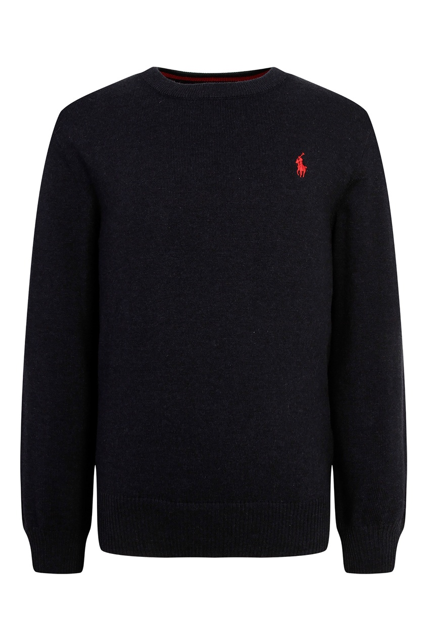Купить Черный джемпер с логотипом от Ralph Lauren Kids синего цвета