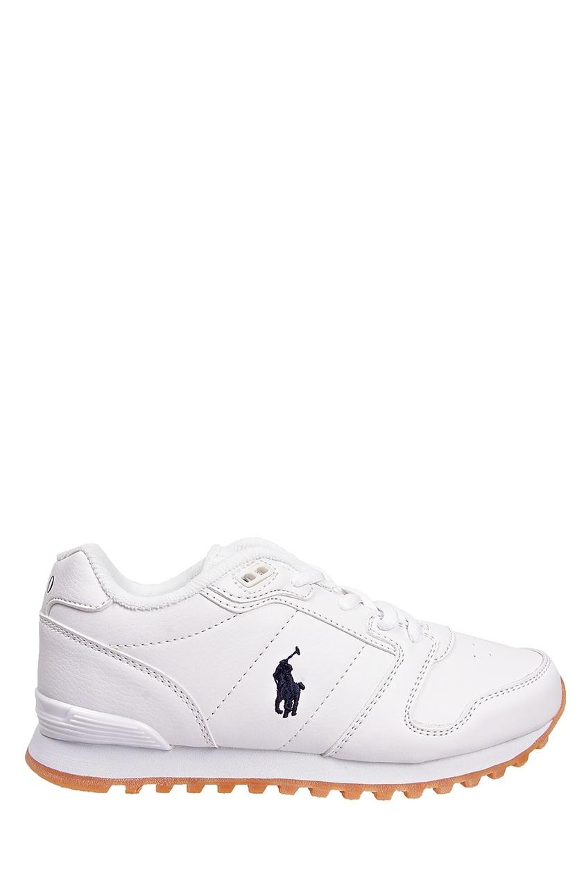 Купить Белые кроссовки с флагом от Ralph Lauren Kids белого цвета