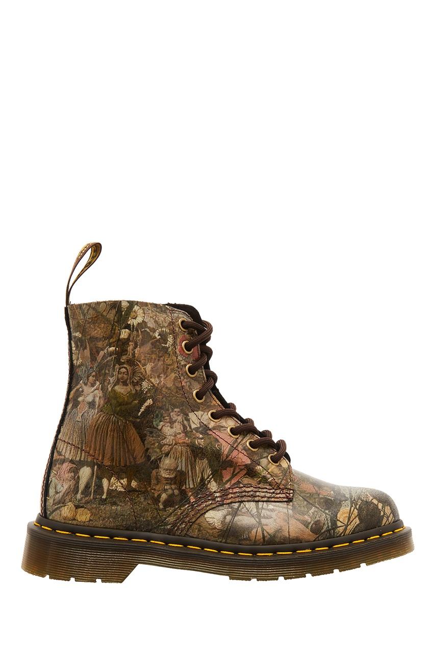 Комбинированные кожаные ботинки Dr.Martens