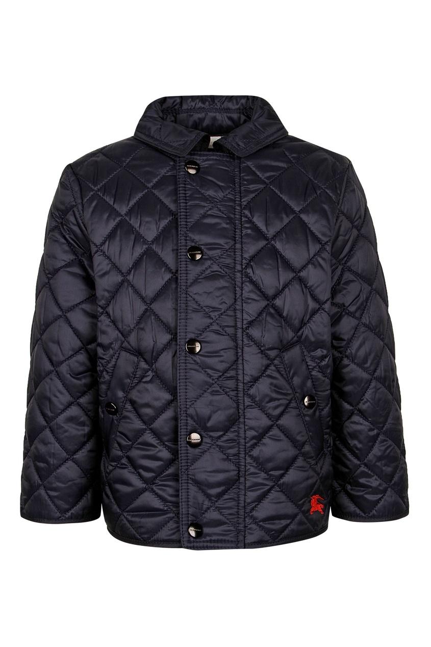 Стеганая куртка с рукавами 3/4 от Burberry Kids