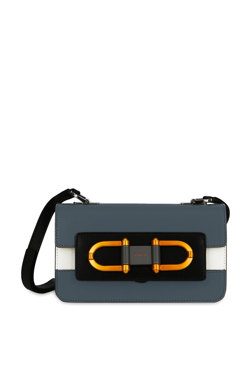 Контрастная сумка с отделкой Furla