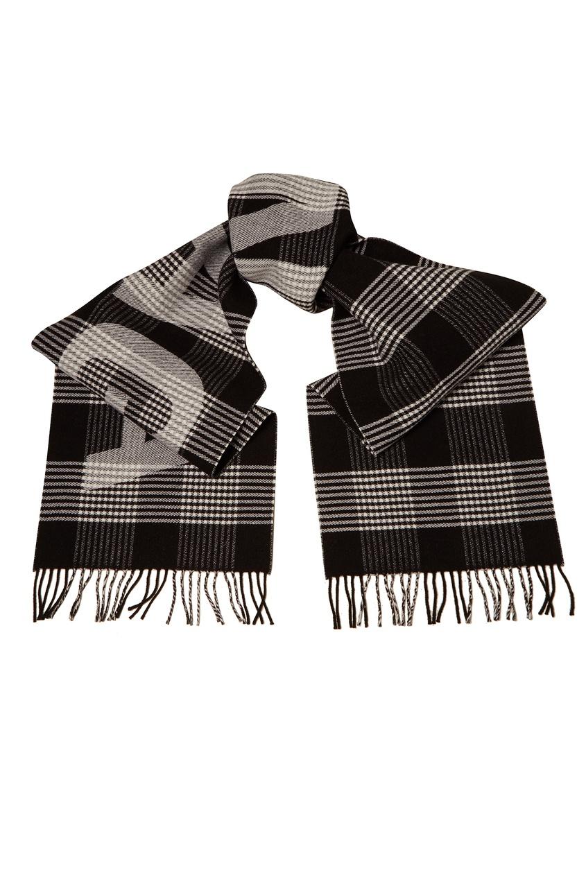 Шерстяной шарф с логотипом Balenciaga