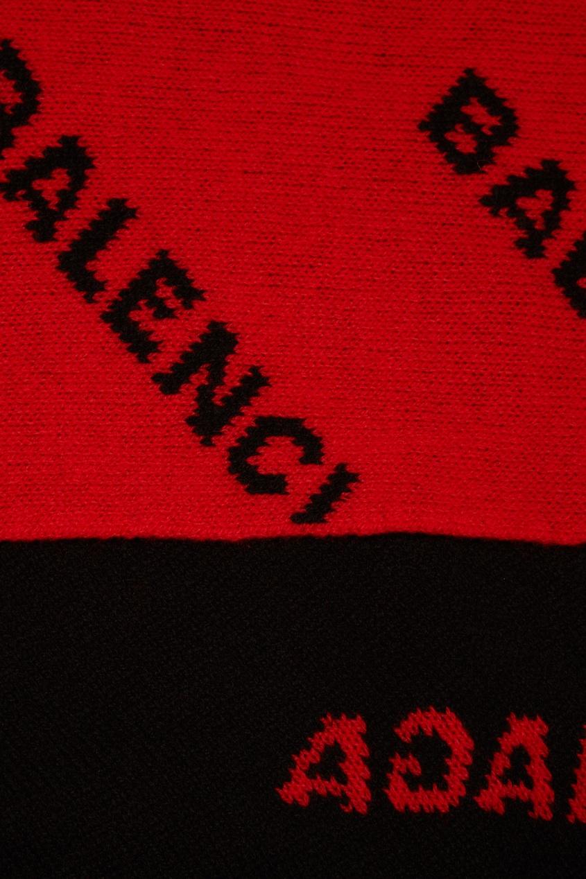 женский шарф balenciaga, оранжевый