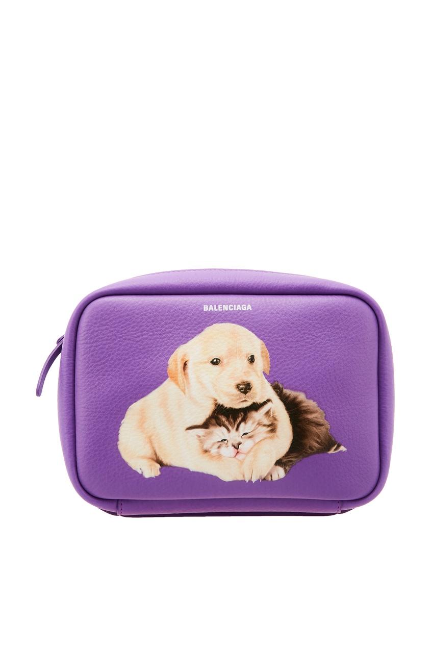Фиолетовая сумка с принтом Everyday XS AJ Balenciaga