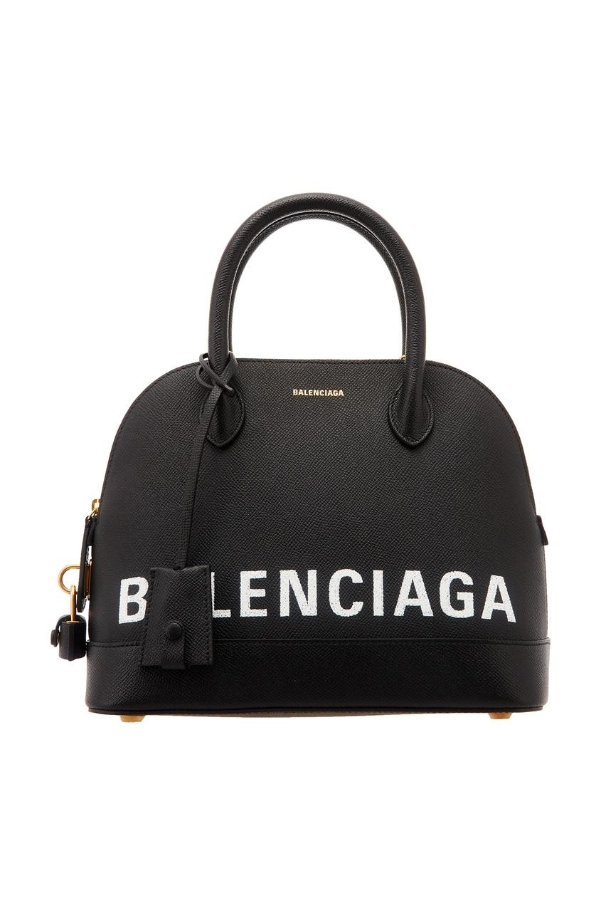 Черная сумка с логотипом Ville small Balenciaga