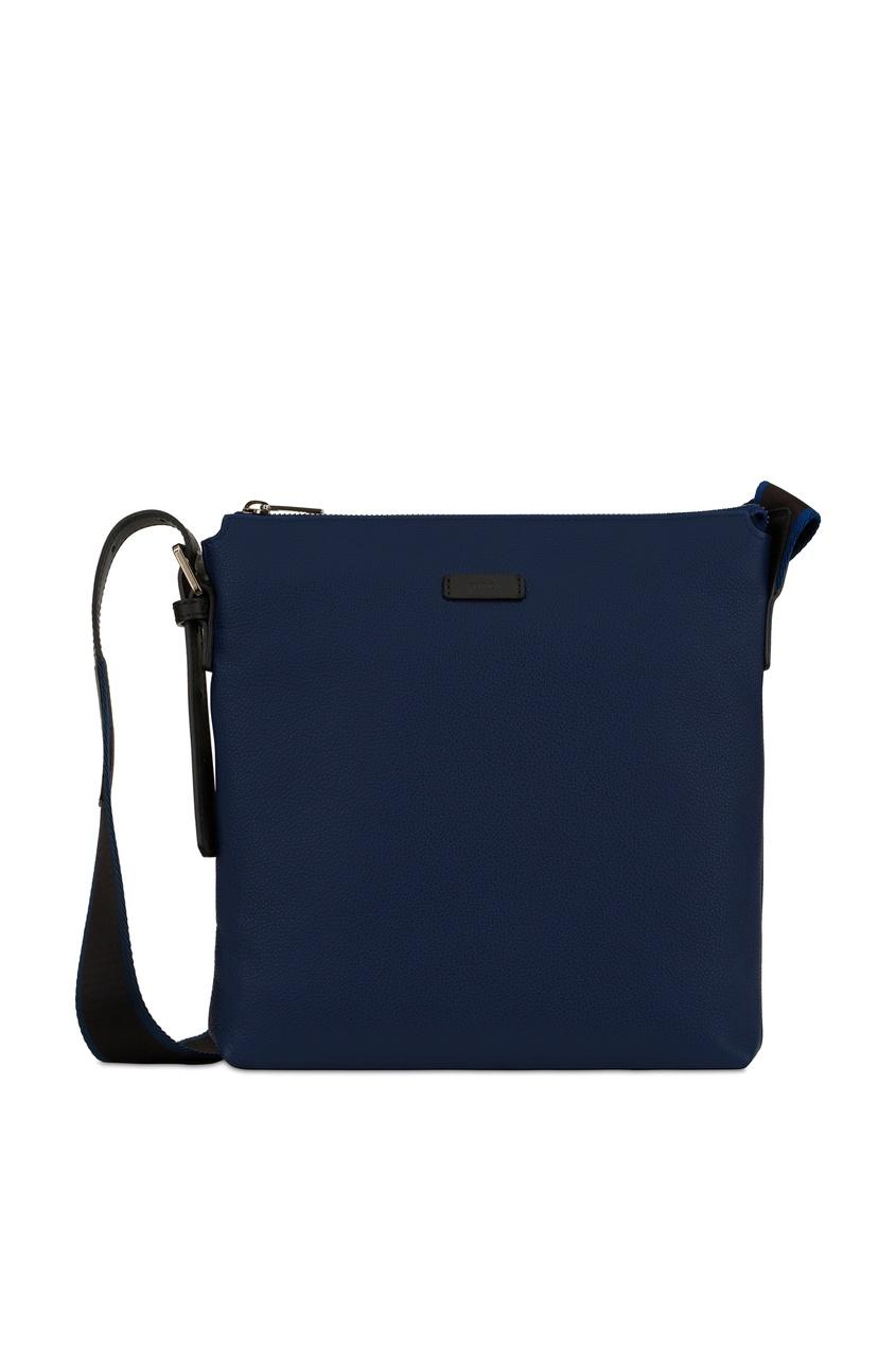мужская сумка через плечо furla, синяя