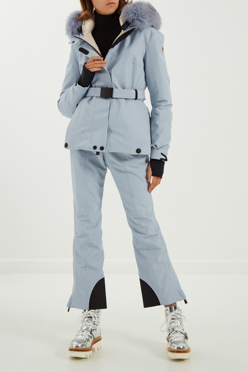 женские брюки moncler, серые