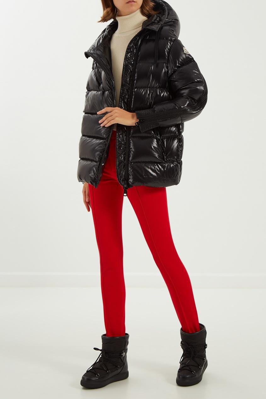 женские брюки moncler, красные