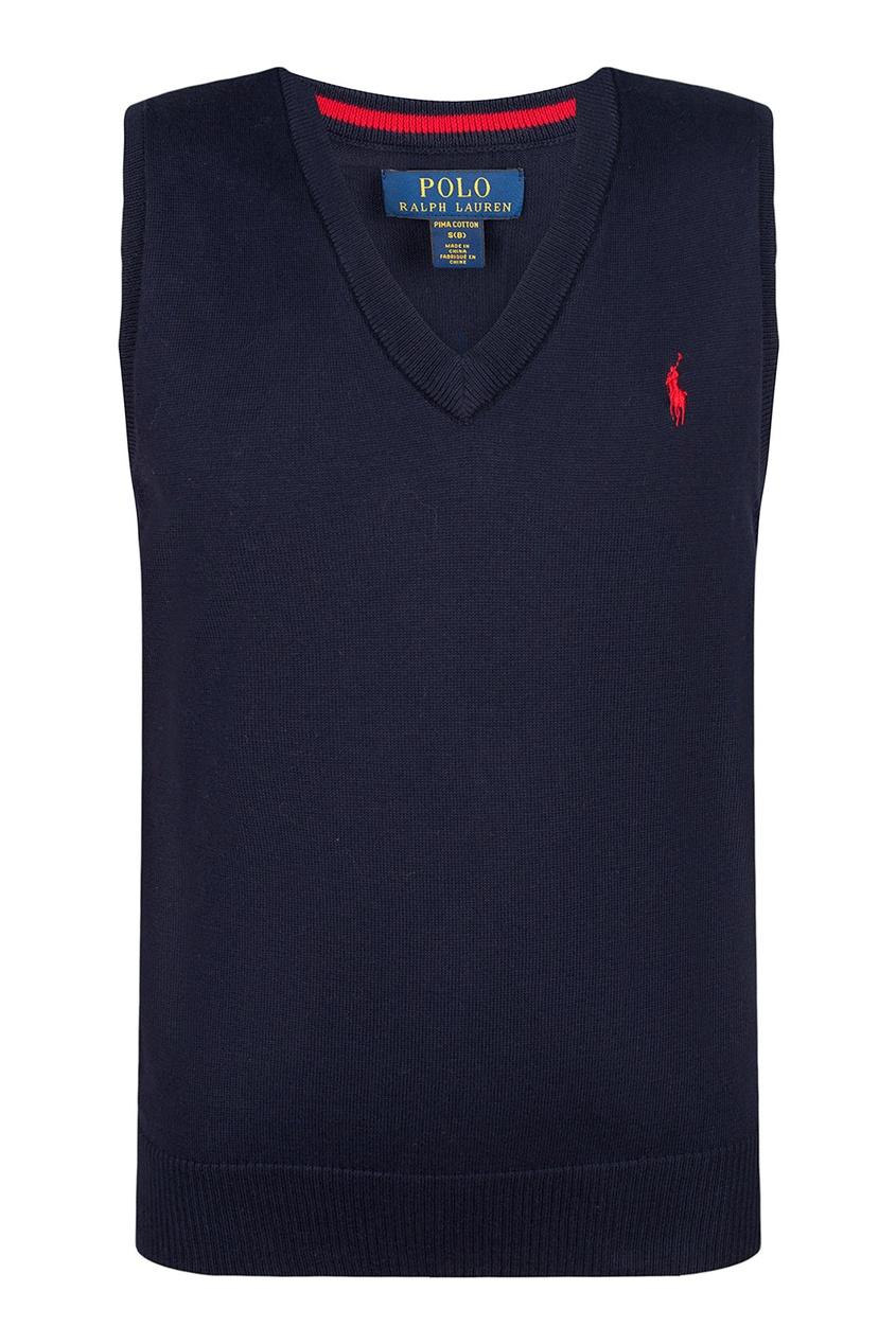 Синий жилет с логотипом от Polo Ralph Lauren Kids