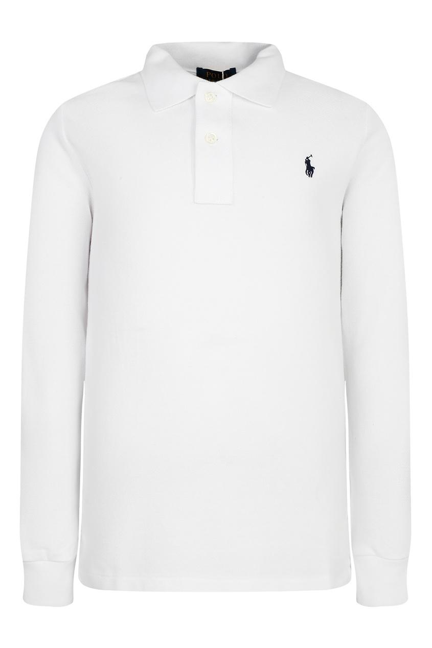 Белое поло с логотипом от Polo Ralph Lauren Kids