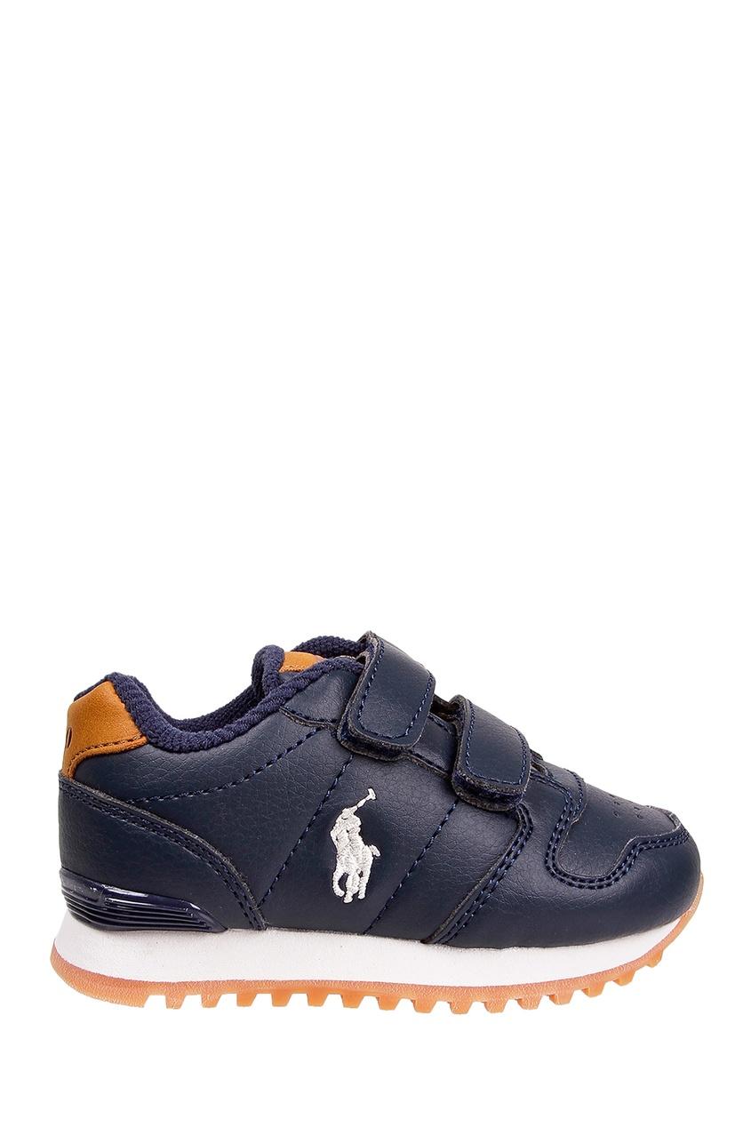 Синие кроссовки на липучках от Polo Ralph Lauren Kids