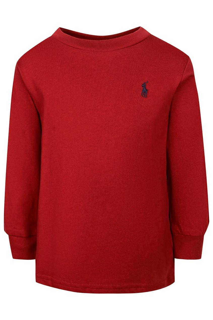 Купить Красный лонгслив от Ralph Lauren Kids красного цвета
