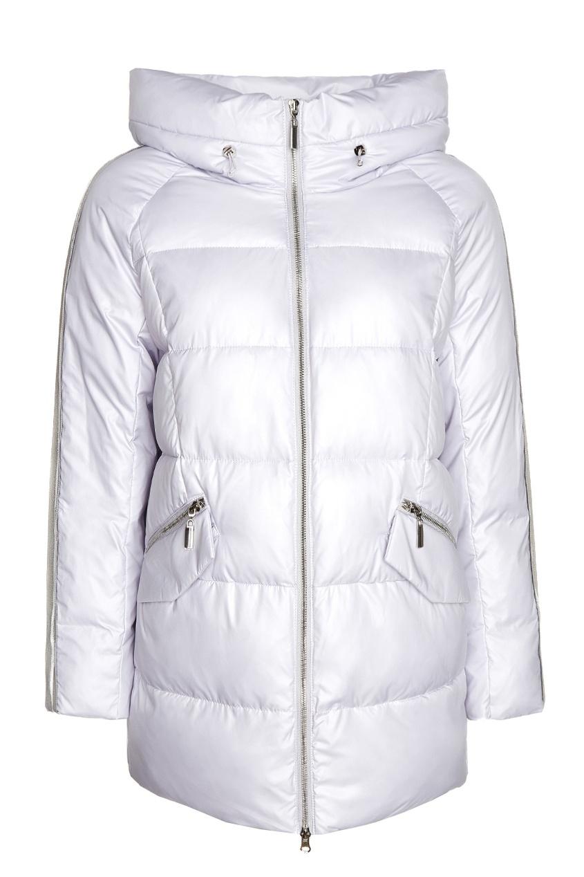 Стеганая сиреневая куртка с отделкой MILAMARSEL