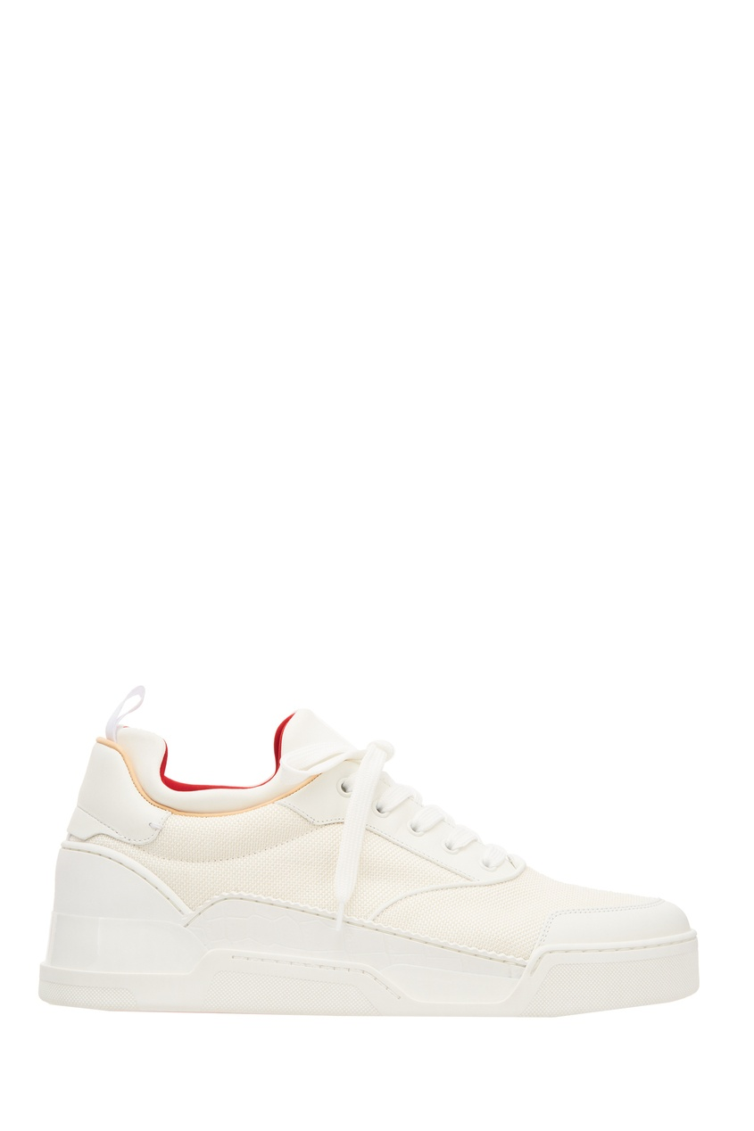 Белые кроссовки Aurelien Flat Christian Louboutin