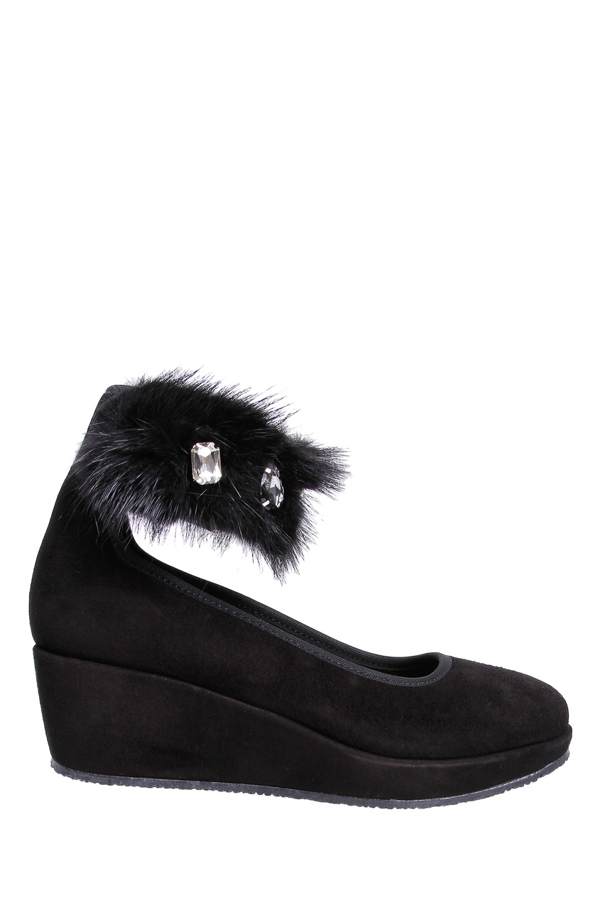 Черные туфли на платформе