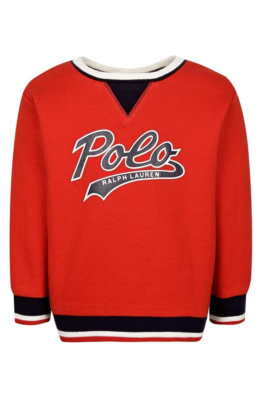 Купить Красный джемпер с логотипом от Ralph Lauren Kids красного цвета