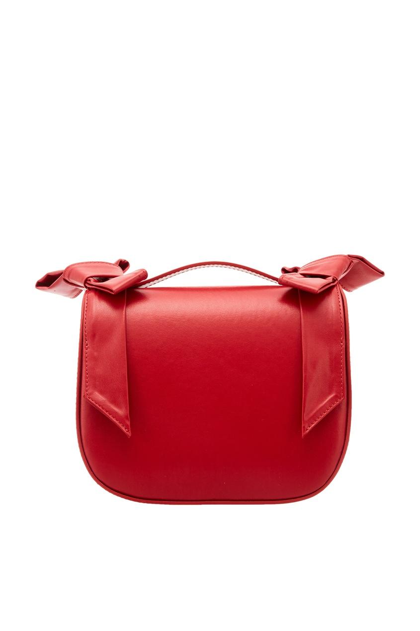 Кожаная красная сумка с бантами SIMONE ROCHA