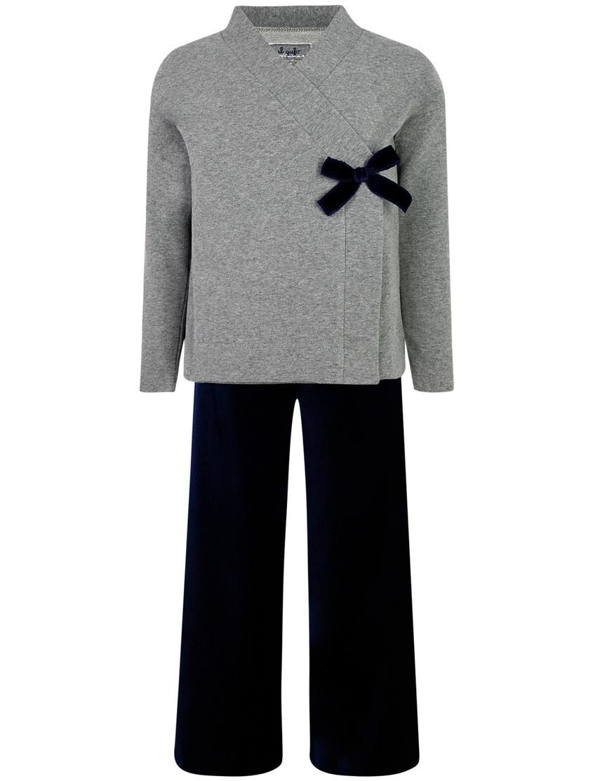 Комплект с брюками, жакетом и лонгсливом от Il Gufo