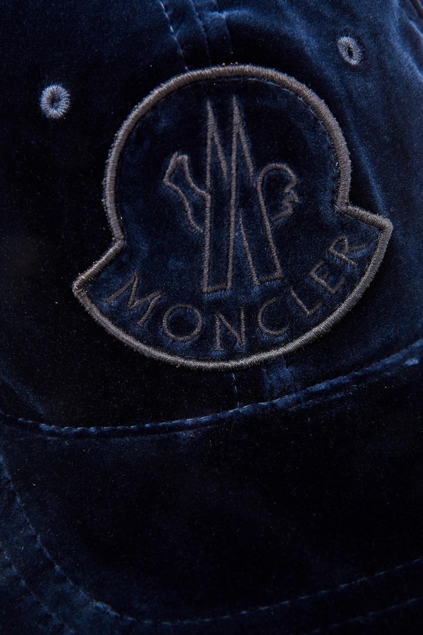 женская бейсболка moncler, синяя