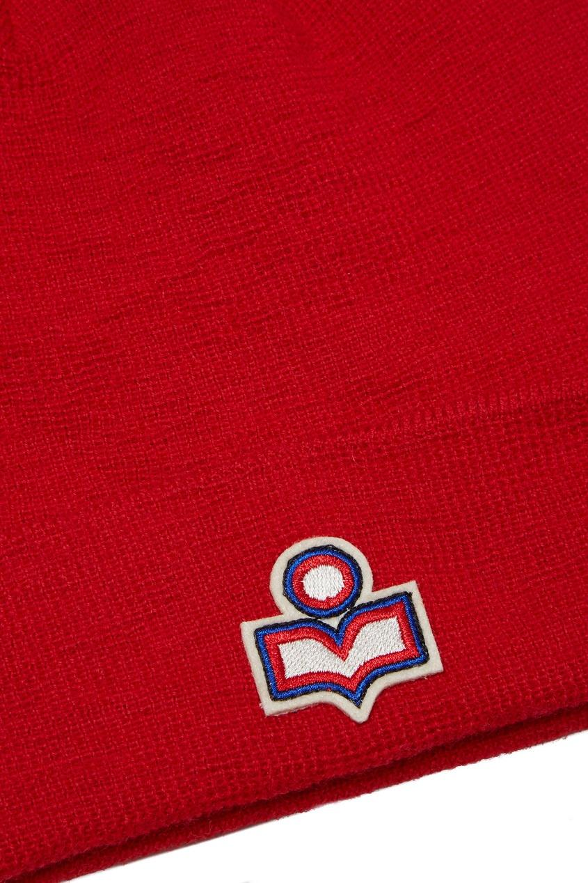женская шапка isabel marant, красная