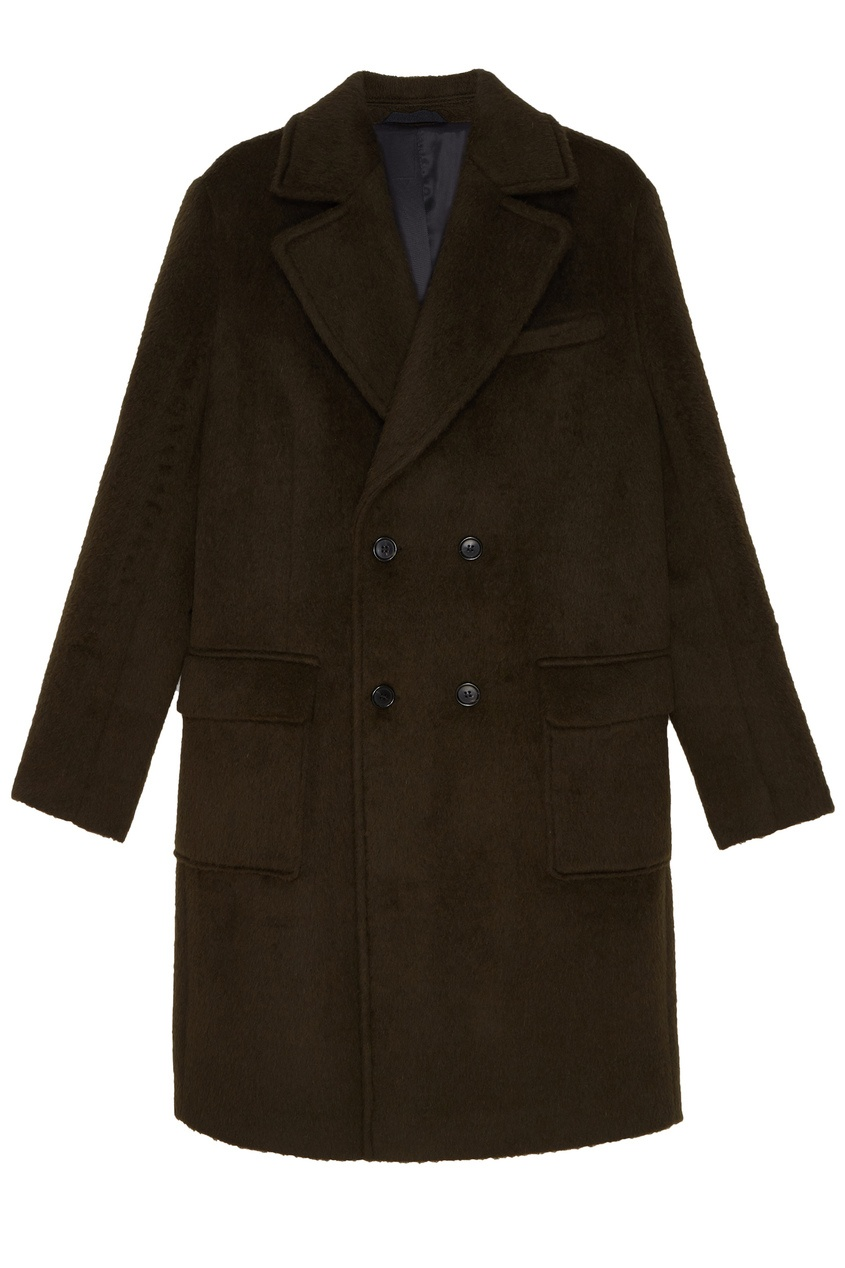Зеленое пальто от TRYYT
