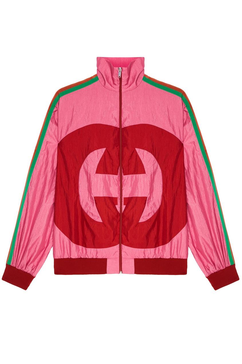 женская куртка gucci, розовая