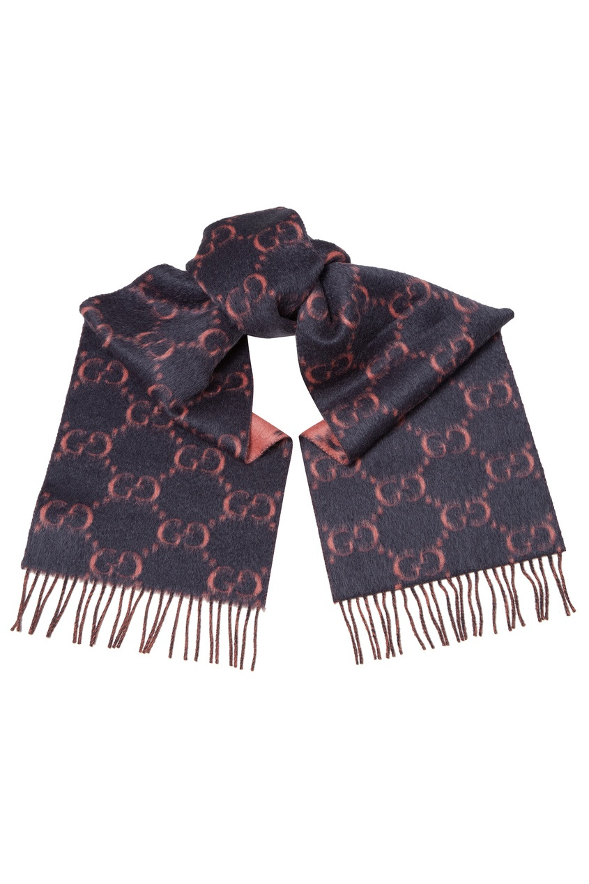 женский шарф gucci, серый