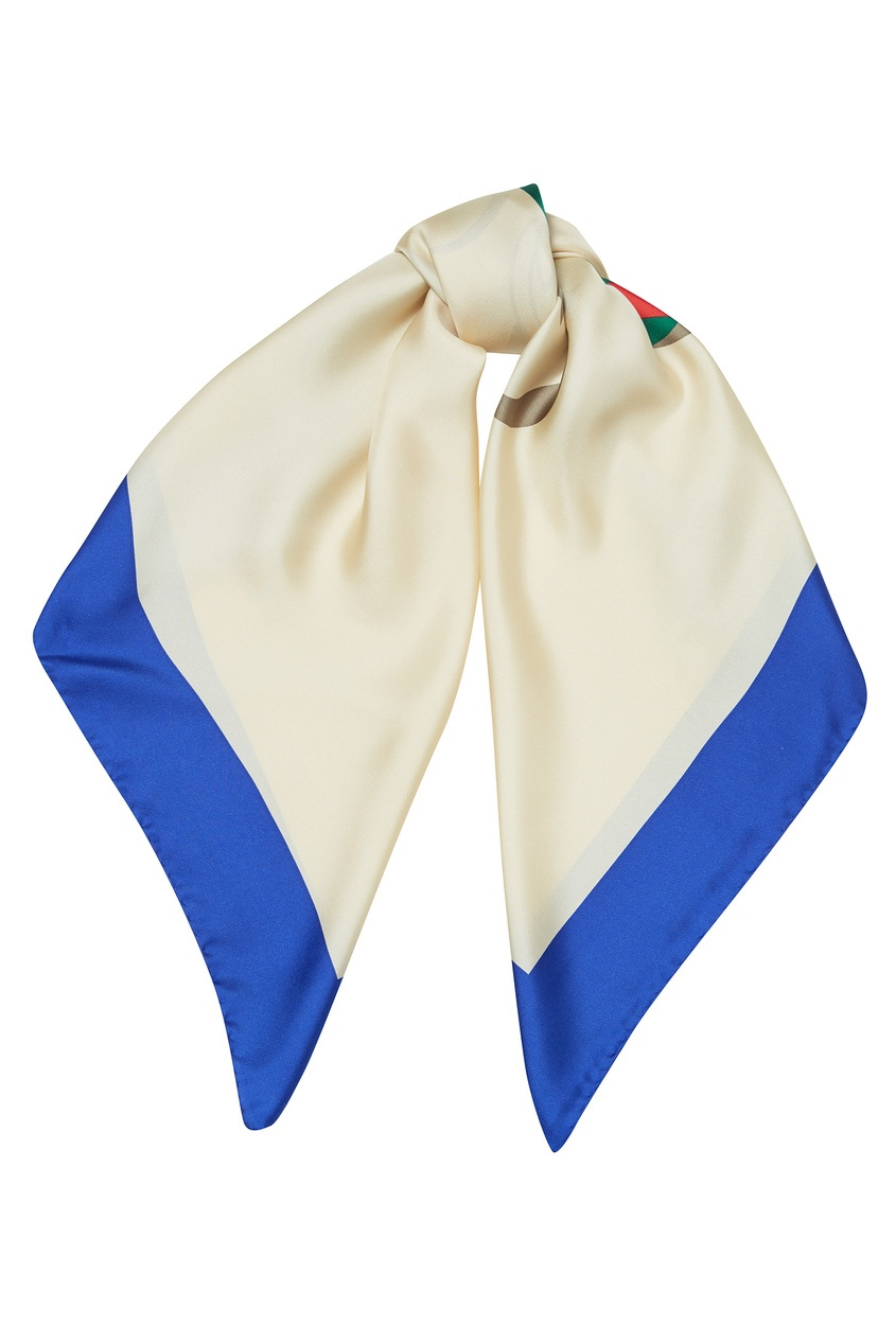 женский платок gucci, бежевый