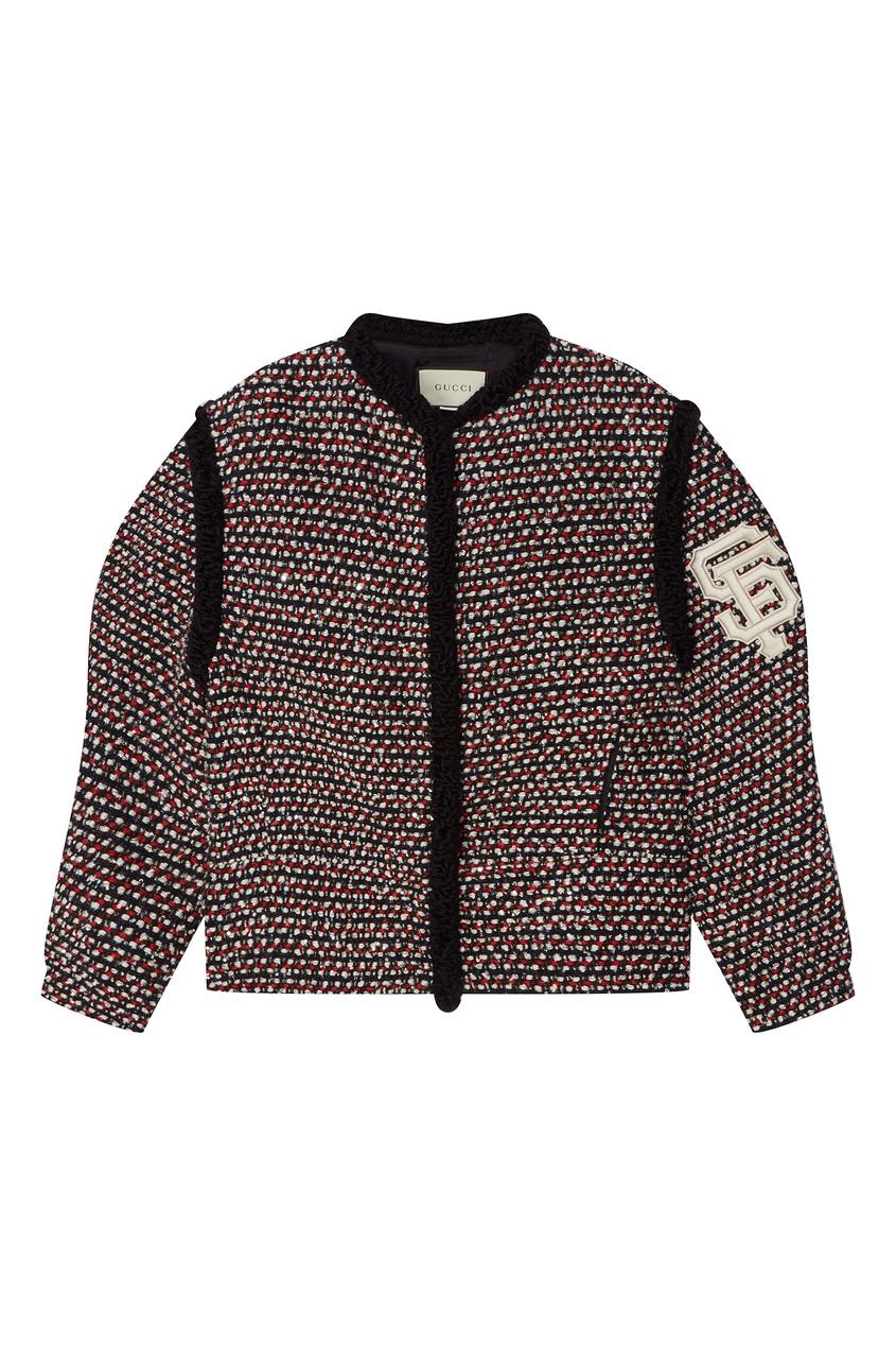 Фактурная куртка с отделкой