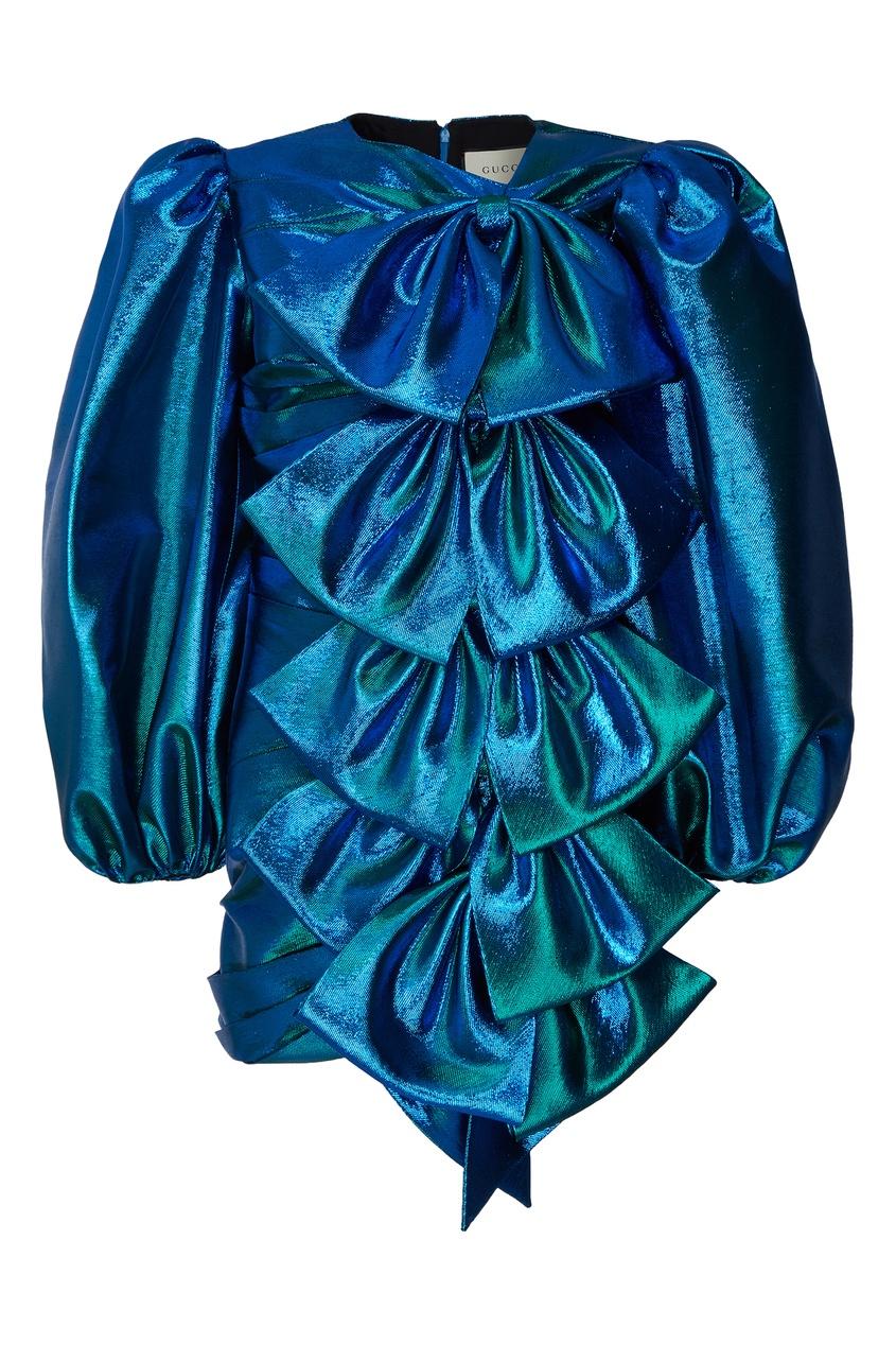 женское платье gucci, синее