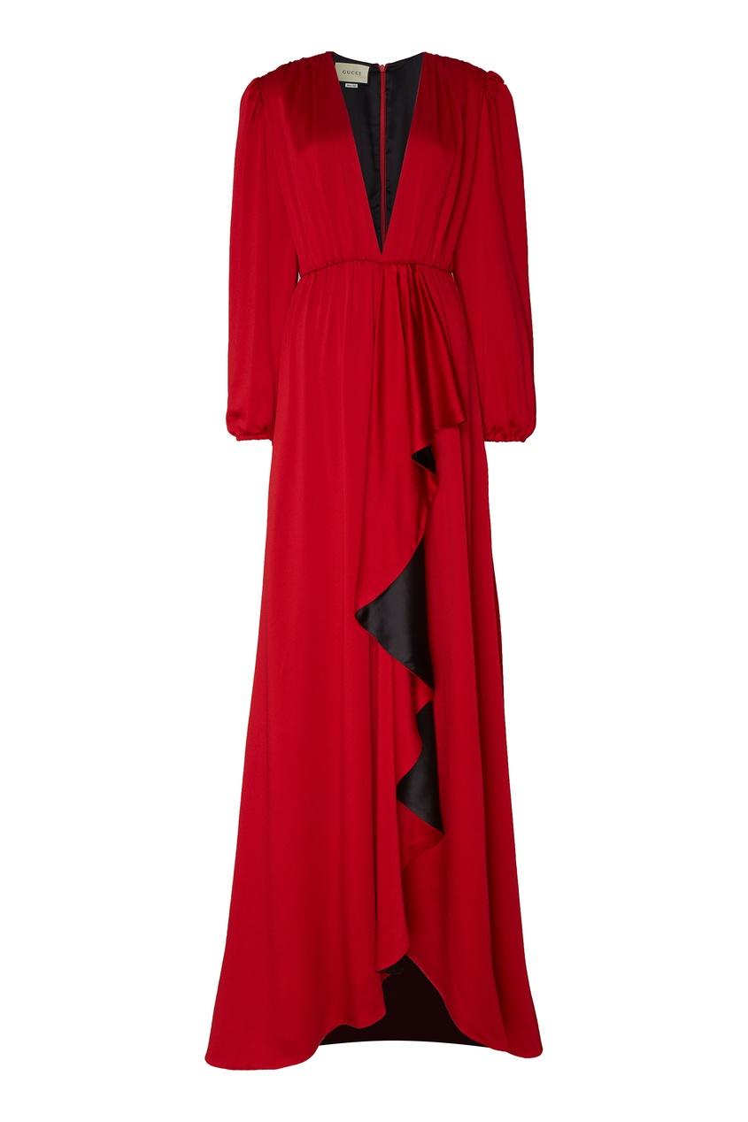 женское платье gucci, красное
