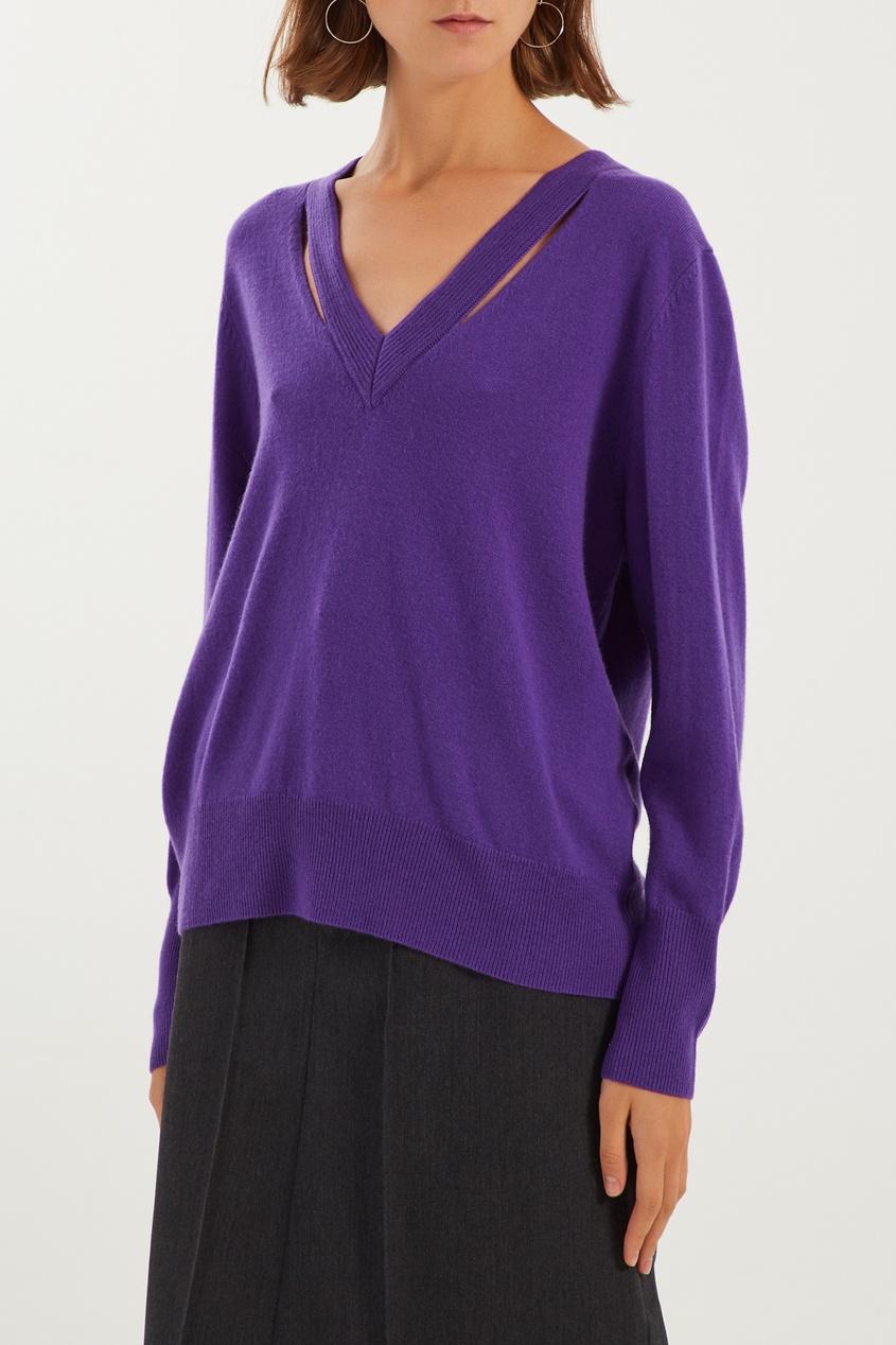 женский пуловер sandro, фиолетовый