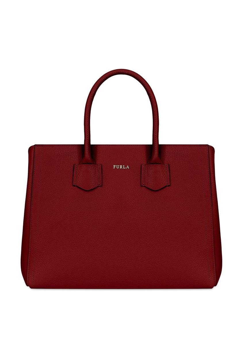 женская сумка furla, красная