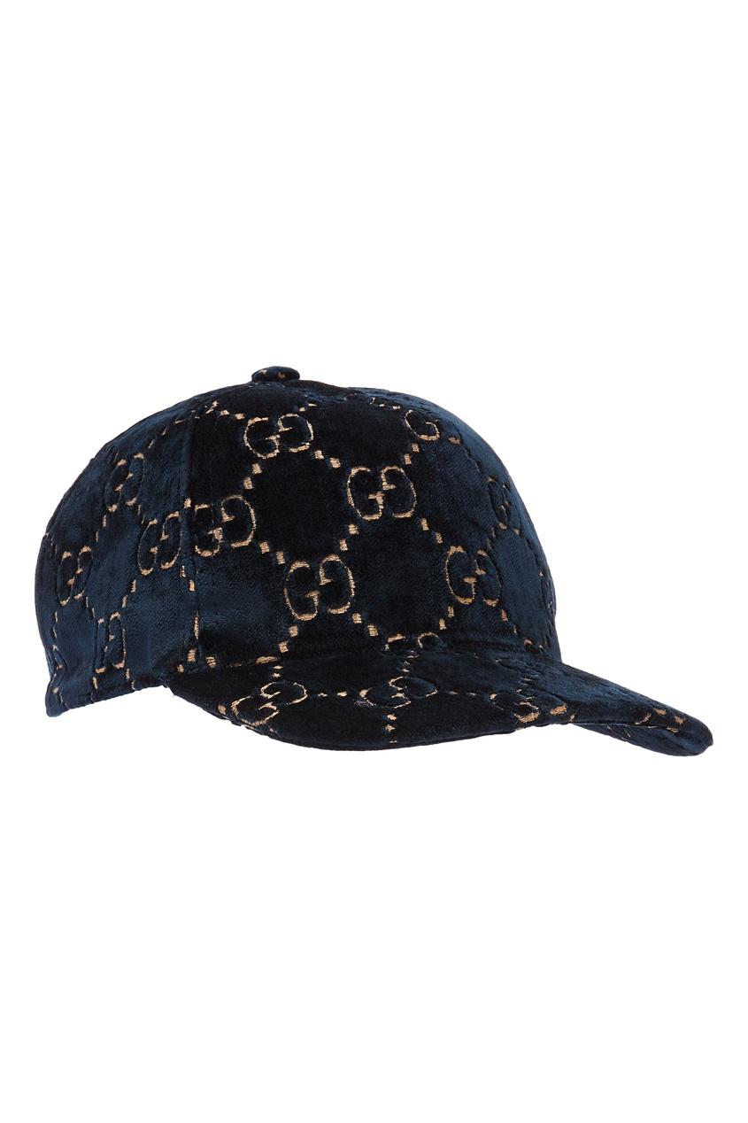 женская бейсболка gucci, синяя