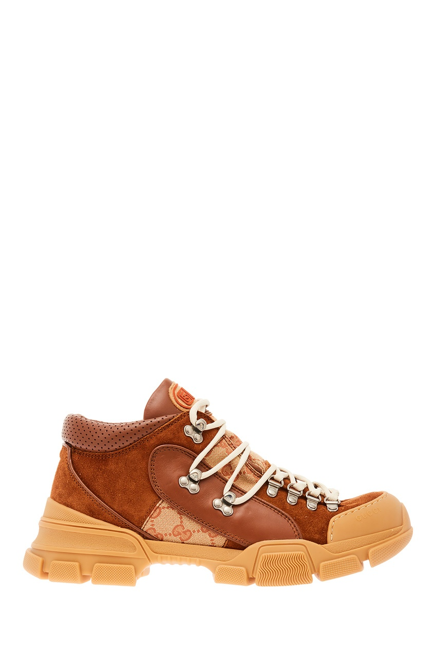 мужские кроссовки gucci man, коричневые