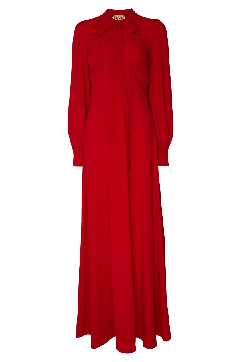 Красное платье макси No.21