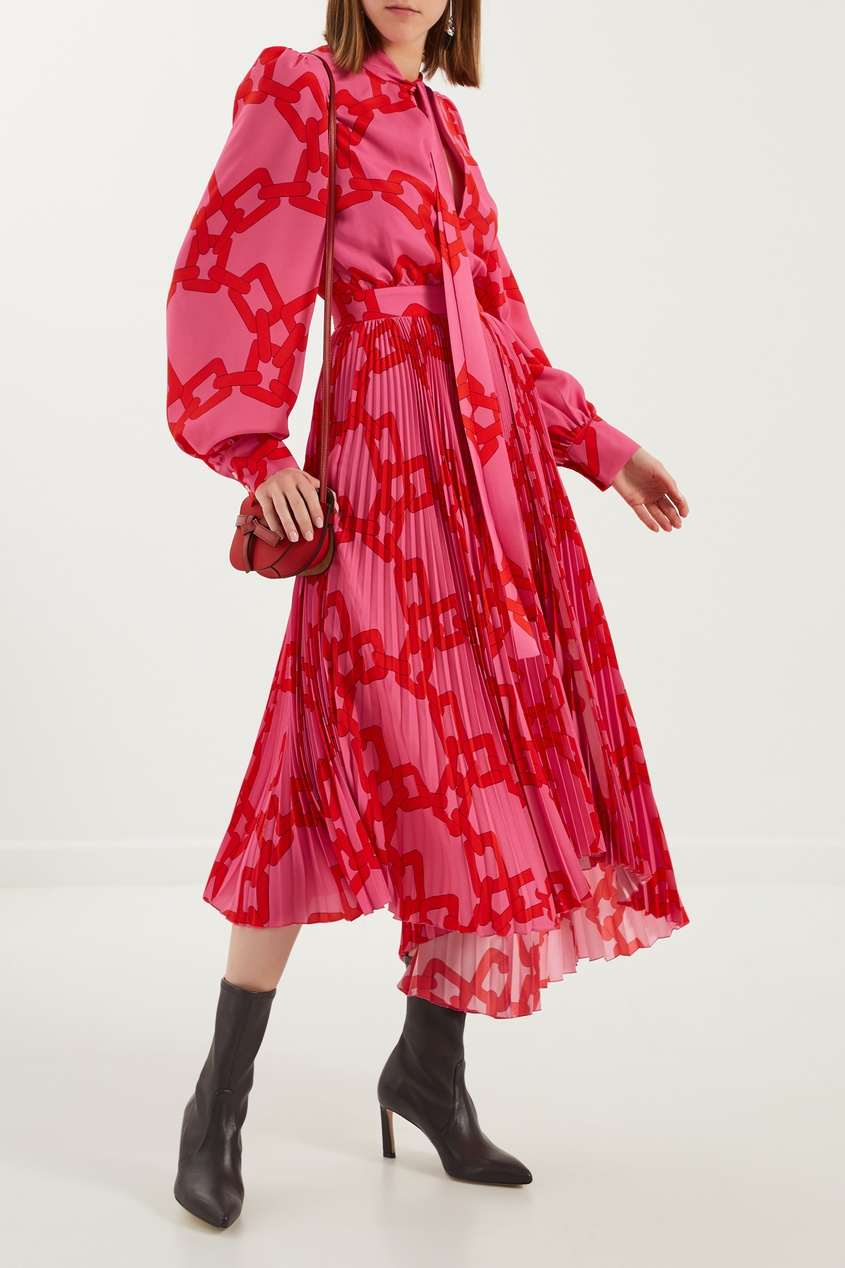 женское платье msgm, розовое