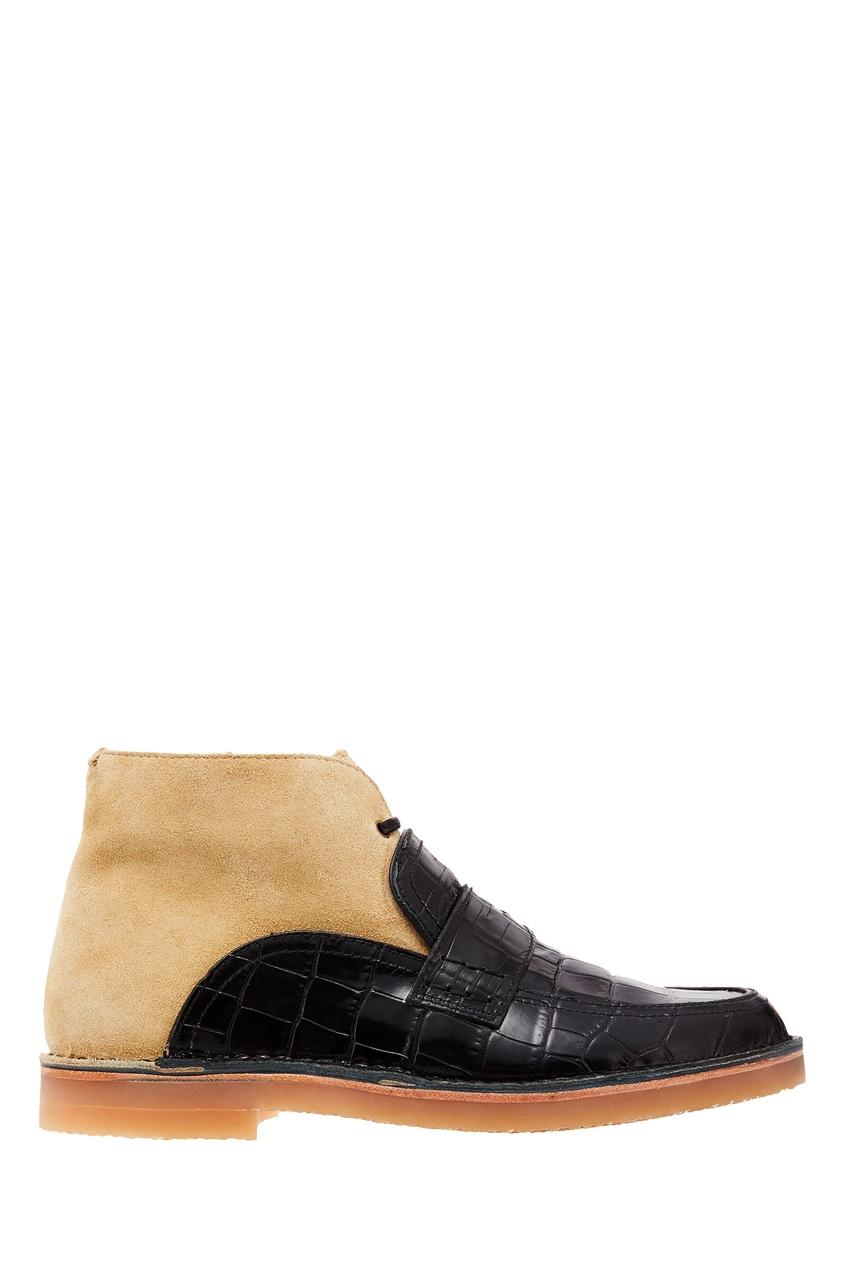 Комбинированные ботинки