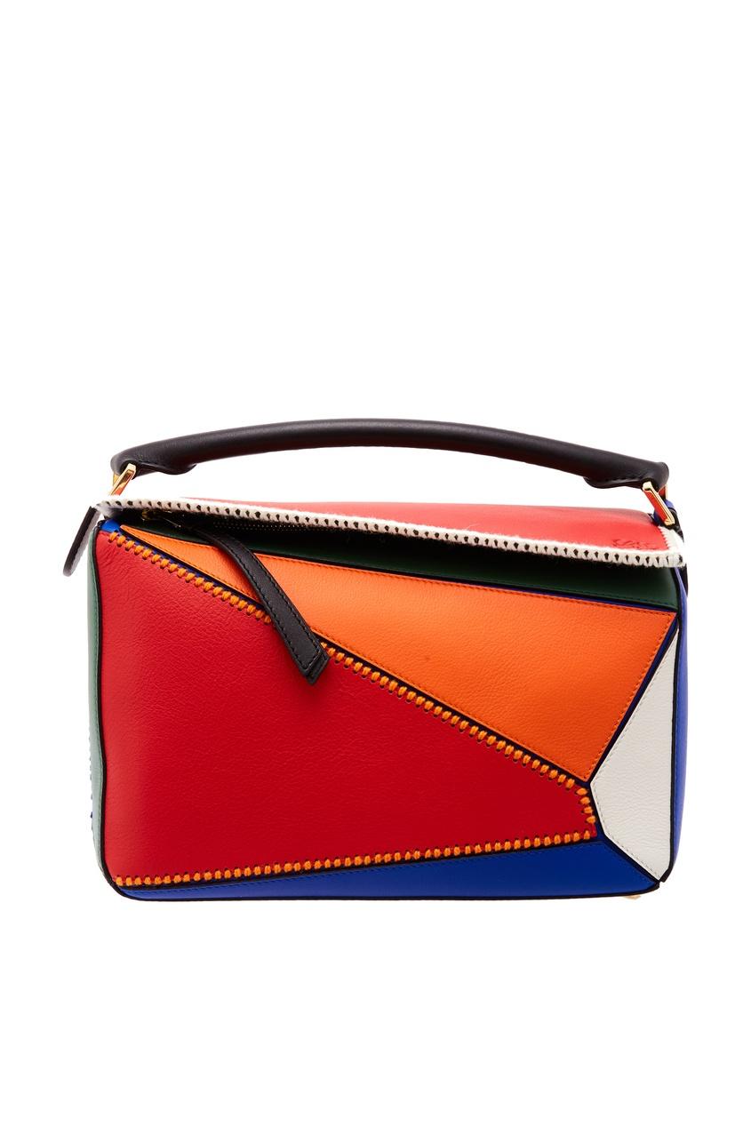 Разноцветная сумка Puzzle Loewe