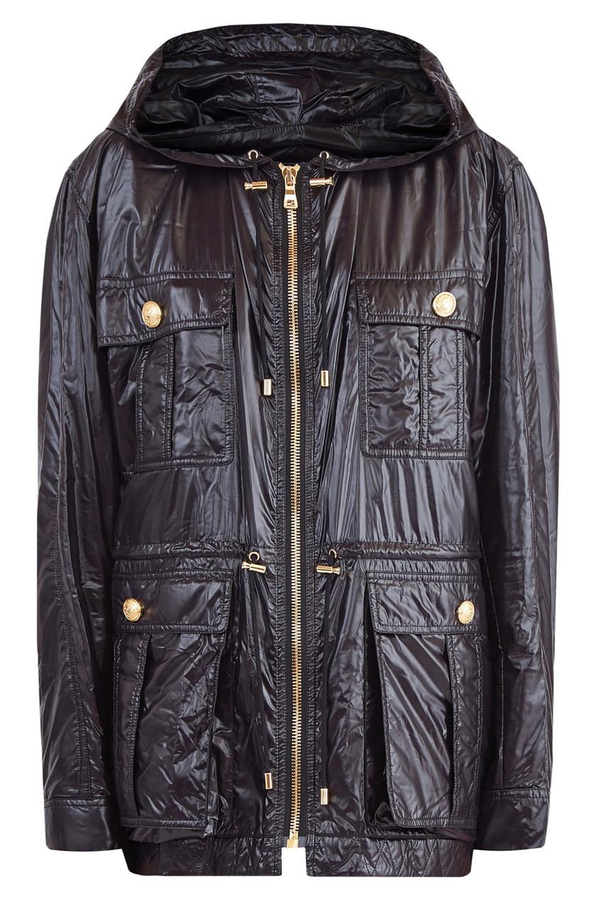 Черная куртка с капюшоном Balmain
