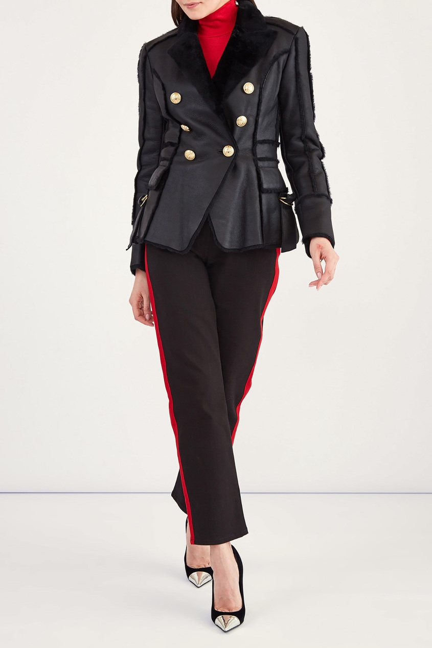 женская куртка balmain, черная