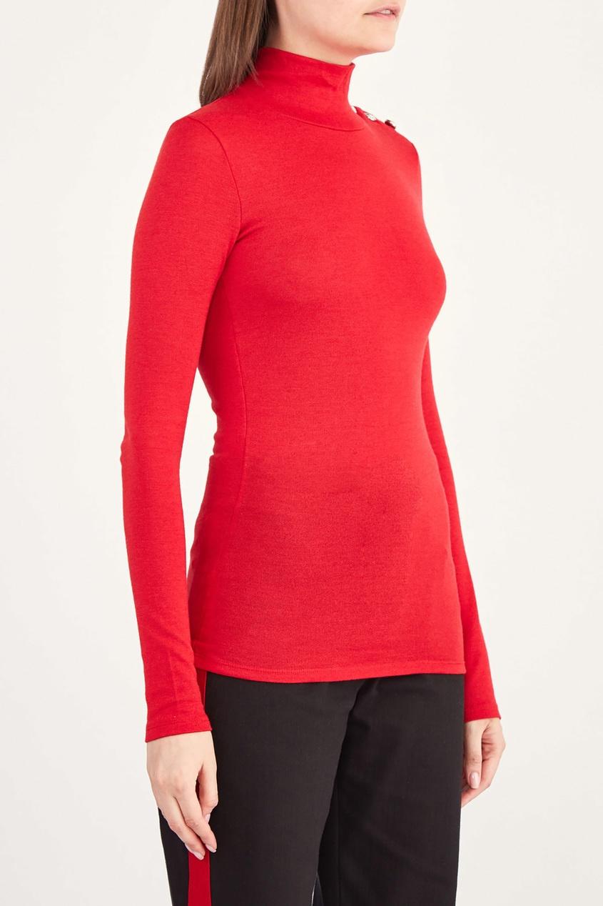 женская водолазка balmain, красная