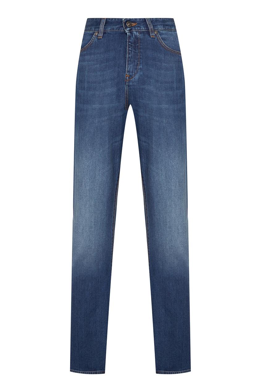 Купить Мужские джинсы голубого цвета синего цвета