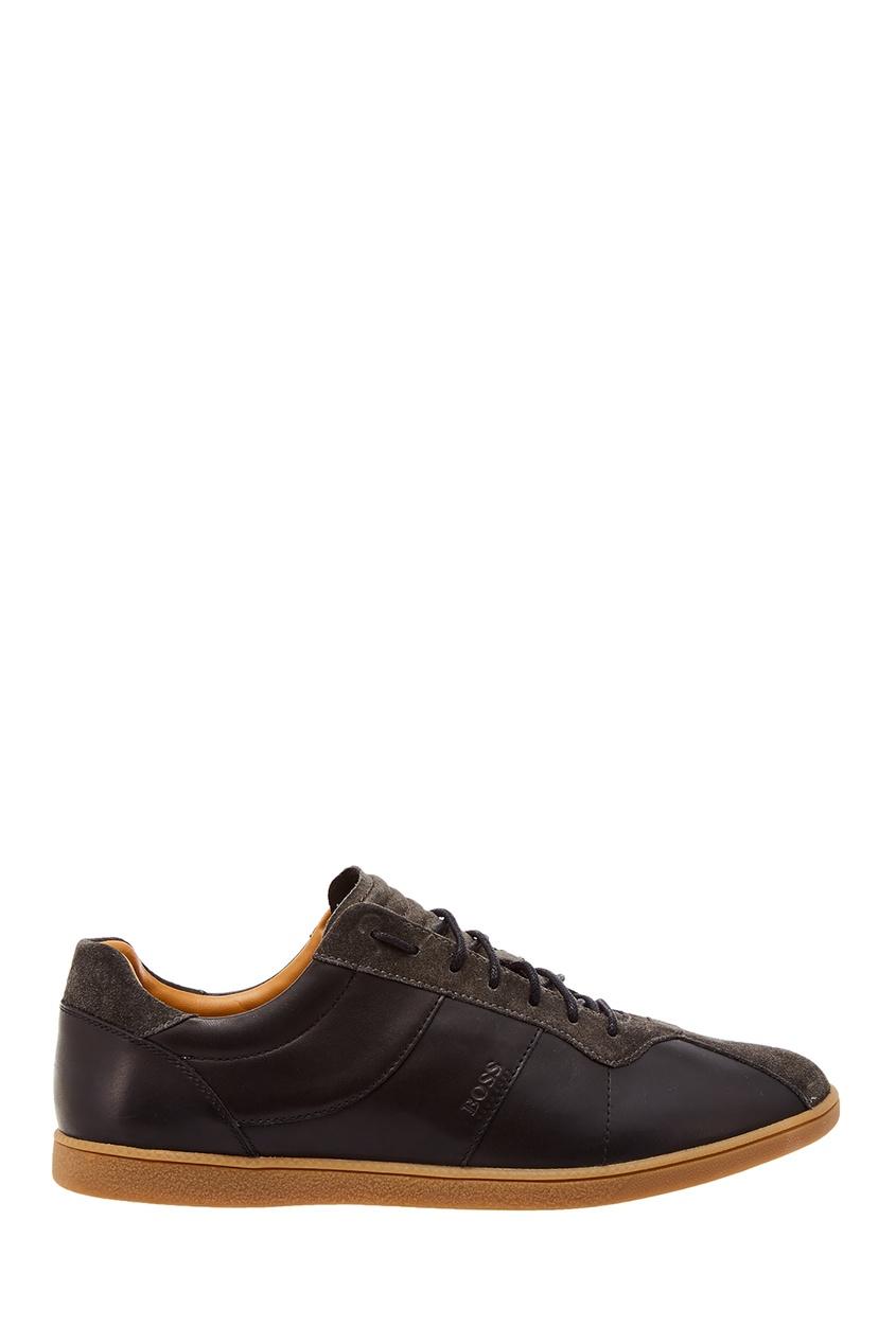 Черные кожаные кроссовки от Boss Orange