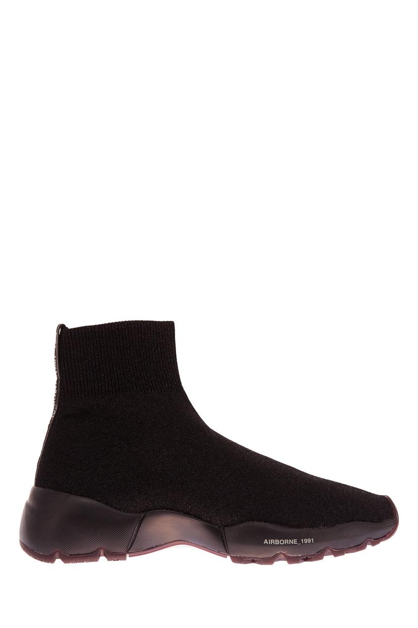 Текстильные кроссовки с люрексом Oxs
