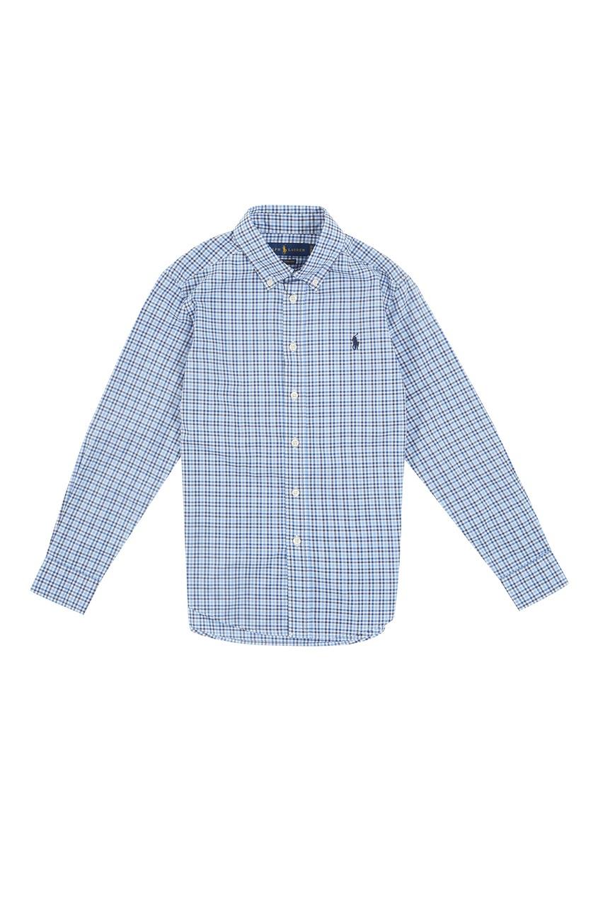 Купить Рубашку в клетку от Ralph Lauren Kids синего цвета