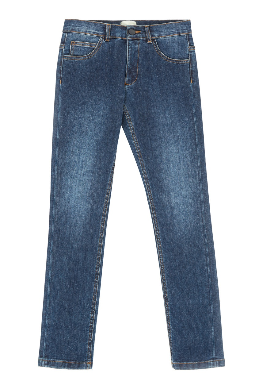 Купить Синие хлопковые джинсы от Fendi Kids синего цвета